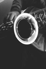 Sax* (AlexGinger) Tags: bw music white black digital nikon musical instrument sax saxophone d5100