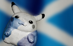 scottish pikachu (tracymaureensiobhan) Tags: photoshop flag scottish patriotic pikachu geeky standrewsflag