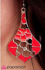 Sunset Sightings Red Earrings K2 P5921A-4
