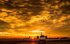 "Bizjet apron at Schiphol oost during sunset • <a style=""font-size:0.8em;"" href=""http://www.flickr.com/photos/125767964@N08/16262045152/"" target=""_blank"">View on Flickr</a>"
