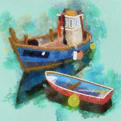 Boats 17/365 (petervanallen) Tags: boats sketch 365 procreate ipad 17365 autopainter