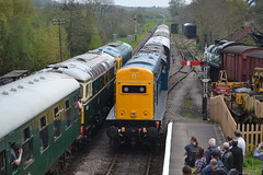 Class 33 - 33111 & D6515 / 33012 & Class 20 - 20142 & 20205 (Will Swain) Tags: uk travel england west castle english train during diesel britain 33 south transport may rail railway trains class southern vehicles dorset vehicle 20 corfe railways 7th gala isle swanage purbeck 2016 20205 20142 33012 33111 d6515