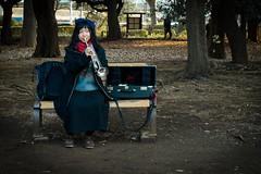 Joueuse (Dan Bouteiller) Tags: park city musician woman japan canon eos japanese 50mm tokyo femme trumpet 50mm14 5d canon5d yoyogi parc japon ville musicien trompette musicienne japonaise 5d2 5dmk2
