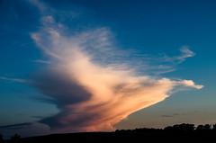 Thunder_alone #weather #storm #sunset (NetAgra) Tags: blue sunset sky cloud wet rain weather wisconsin rural dark skyscape landscape tamron thunder stoughton danecounty nikon7000
