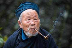 Elderly Miao (Ben-ah) Tags: china man pipe chinese smoking guizhou miao langde ethnic minority gent chineseminority langdemiaovillage