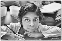 (Ramalakshmi Rajan) Tags: portrait blackandwhite bw kids portraits children blackwhite nikon child schoolkids littlegirls potraits nikkor35mm nikond5000