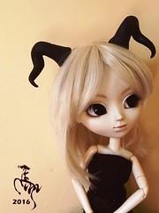 Bianca (Malina (LaelP)) Tags: cute beautiful doll horns mio pullip bianca faun obitsu miokit