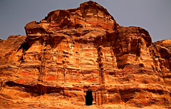 Path to the Monastery 46 (David OMalley) Tags: world city heritage rose rock stone site desert path petra siq carving unesco east jordan monastery arab middle carvings jordanian monumental jebel nabatean nabateans hewn maan almadhbah