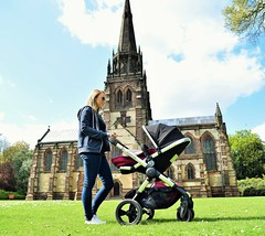 Icandy modelling (cypriotliljoe) Tags: family baby church modelling pram dayout fiance clumberpark icandy