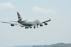 IMG_2460 (wmcgauran) Tags: boston airplane airport aircraft aviation boeing bos britishairways 747 eastboston kbos gbygd