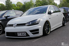 VW Golf R | F7 RAS (Jgalea14) Tags: white black lines car vw canon golf volkswagen automobile outdoor sunday may engine lancashire vehicle preston motor windshield phantom ras meet supercar 22nd winger f7 fulwood 100d pscm f7ras