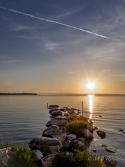 Spring sunrise (Sasquatchpics) Tags: sun water sunrise rocks ulster nireland loughneagh colondonderry ballyronan canons95