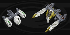 Petrel and Gryphon (Uspez) Tags: lego space stg starfighter