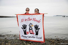 small It's In Our Hands banner with Marles Break Free PNW 2016 photo taken by Alex Garland img_3152 (Backbone Campaign) Tags: water justice washington energy kayak break action politics protest creative paddle shell free social demonstration oil change wa environment activism anacortes campaign pnw refinery climatechange climate tesoro artful backbone renewable refineries 2016 kayaktivist kayaktivism breakfreepnw