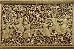 093. Laos . Luang Prabang. Wat Xien Thong (beatrice.boutetdemvl) Tags: detail temple buddhism thong laos wat xien luang prabang dtail bouddhisme ramayana