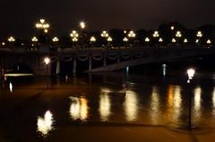 Crue de la Seine 2016 - Paris, Pont Alexandre III (EclairagePublic.eu) Tags: paris seine flooding eau flood lumire berge pniche quai inondation lampadaire naturelle catastrophe crue luminaire candlabre