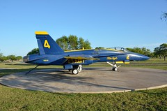 F/A-18A Hornet, U. S. Navy (163130), Naval Air Station Corpus Christi, Texas (EC Leatherberry) Tags: texas aircraft military blueangels usnavy millitary mcdonnelldouglas fa18hornet navalairstationcorpuschristi staticdisplay fighteraircraft boeingaircraft attackaircraft