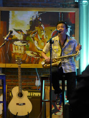 The art of jazz (Roving I) Tags: music vertical drums bars singing paintings jazz vietnam entertainment nightlife artworks danang musicalinstruments venues saxophones vocalists saxophonists acousticguitars reedinstruments jazzhotel