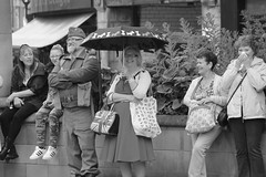 Rotherham Vintage Hop June 2016 (2) (Chris.,) Tags: blackandwhite bw canon blackwhite dance war song military crowd 1940s 1950s creativecommons hiphop polkadot rotherham homeguard allsaintssquare vintagehop queens90thbirthdaycelebration