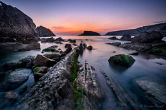 Morning Dawn (cfaobam) Tags: travel light sea nature water berg rock stone landscape photography spain meer wasser europa europe outdoor magic steine national fujifilm ufer landschaft stein geographic spanien kste felsen ozean liencres felsformation cfaobam cfaobamhome