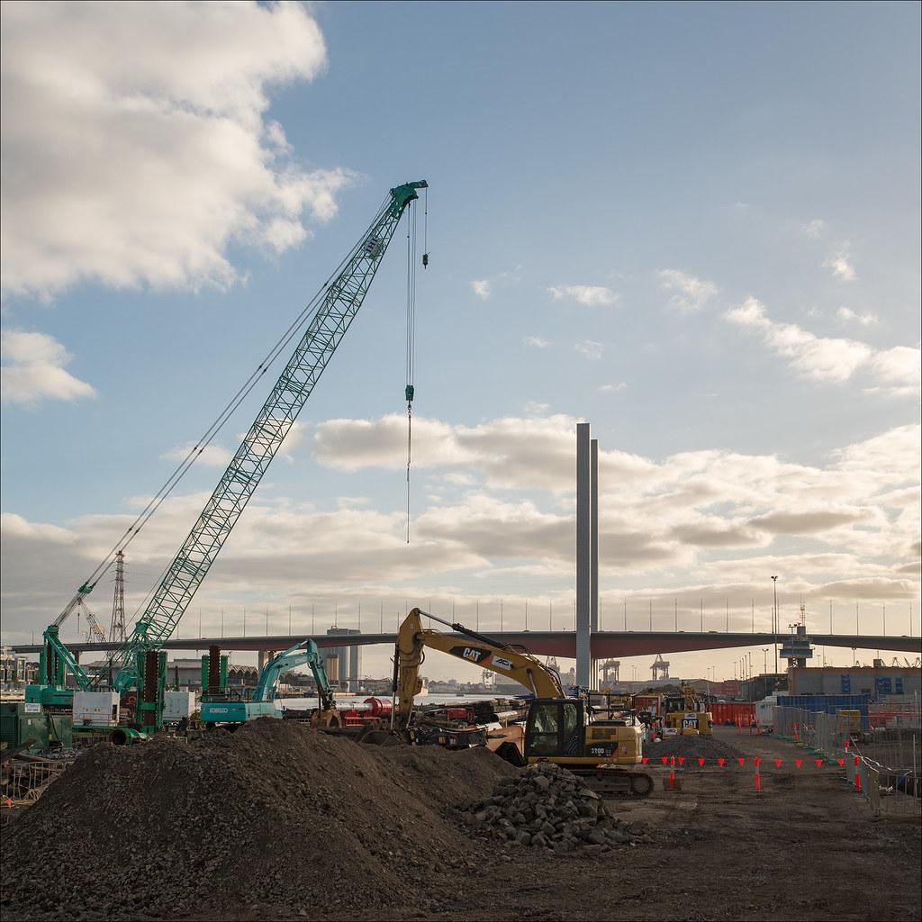 Demolition Concrete Poles : The world s best photos of cranes and excavator flickr