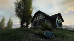 VOEC - 040 (Screenshotgraphy) Tags: sunset sky mountain lake game nature colors architecture clouds contrast montagne landscape pc screenshot lumire couleurs country lac ethan steam gaming ciel beaut carter concept nuages paysage vanishing campagne beautifull jeu naturelle urbain