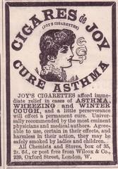 CIGARES DE JOY (old school paul) Tags: vintage ads smoking cigarettes tobacco adverts 1896 cigaresdejoy joyscigarettes