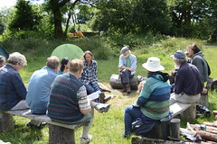 A session round the campfire (Permaculture Association) Tags: wales gathering ecovillage permaculture 2016 lammas cyrmu paramaethu