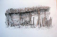 Old house (simeon genew) Tags: wood old summer house sketch village bulgaria bucolic balkan