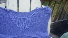 Chili Tank Top Test Knit - Done! (chaotick) Tags: blue wool sweater knitting chili sienna yarn cotton periwinkle cascade blend leethal