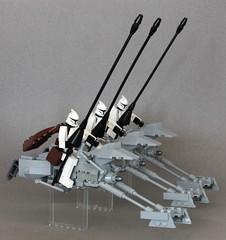 Obi Wan Kenobi leads the Lancer Trooper Battalion (SPARKART!) Tags: lego starwars clonewars sparkart clonetrooper speeder speederbike lancer battalion