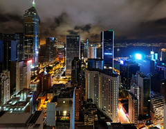 20160901-89-Hong Kong skyline at night pano (Roger T Wong) Tags: 2016 hongkong ptgui rogertwong sel2470z sony2470 sonya7ii sonyalpha7ii sonyfe2470mmf4zaosscarlzeissvariotessart sonyilce7m2 wanchai buildings lights night pano panorama rooftop travel view