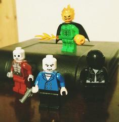 Lesser known Spider-Man villains (Waffle Copter) Tags: lego spiderman jack o lantern looter overdrive chameleon