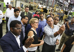IMG_1070  Premier Kathleen Wynne toured RAM Plastics in Scarborough. (Ontario Liberal Caucus) Tags: scarborough industry thiru smallbusiness business