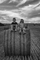 IMG_9945 (ct_purley) Tags: hay bales isle wight canon 7d fields sunny children brother sister