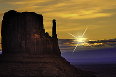 West Mitten Sunrise (grbenson3) Tags: monumentvalley usa utah sunrise desertsouthwest desert butte valley navajo navajotribalpark