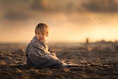 sand, birds, lighthouses (iwona_podlasinska) Tags: child beach sun dof sand sea lighthouse