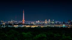 The Red Tower (K.H.Reichert) Tags: berlin skyline funkturm nacht night blauesunde nightshot bluehour wahrzeichenberlin landmarkberlin