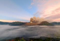 Colors Of Bromo - Tengger Massif, Java, Indonesia (Maria_Globetrotter) Tags: 2016 fujifilm indonesia mariaglobetrotter dscf13792 clouds sea landscape sunrise golden hour eruption