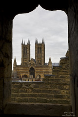 Through the archway (TimEaster) Tags: lincoln lincolncathedral lincolncastle cathedral tower castle architechture medieval archway ogee