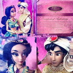 My new fairytale couple Aladdin and Jasmine they're finally miiine (French_Disney_Princess) Tags: dolls disneystore disney couple collection dsigner fairytale jasmine aladdin