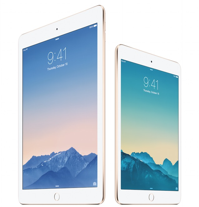 iPad Air 2 has 2GB of system memory and less battery