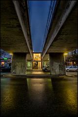 DSC_1712 (pettak) Tags: bridge station night subway metro sweden stockholm sverige sthlm tunnelbana tbana bromma ngby vsterort