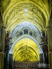 catedral de sevilla (curromam) Tags: light monument night noche cathedral monumento interior catedral seviulla