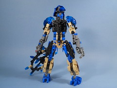 Krona, Back detail (MySnailEatsPizza) Tags: blue cool fighter lego mask time master technic weapon warrior bionicle toa chakram kanohi