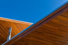 Corktown Roof (josullivan.59) Tags: travel blue autumn light wallpaper sky orange toronto ontario canada abstract detail fall texture geometric architecture downtown day pattern clear minimalism artisitic corktown nicelight canonef24105mmf4lisusm 3exp canon6d