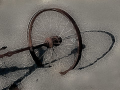 Wheel in the sand (JMVerco) Tags: wheel photomanipulation digitalart creative roue création creazione artdigital awardtree exoticimage