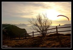 Coucher de soleil au mont Revard, Aix-les-bains, France (Pito Charles) Tags: sunset france alps montagne alpes french landscape soleil coucher paragliding paysage alp alpe aix montagnes bains parapente aixlesbains revard
