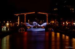 De magere brug vanaf Wibautstraat (Travel4Two) Tags: amsterdam c0 s0 amsterdamlightfestival adl0 2014l 6670k