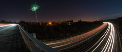Rush Hour. (Suggsy69) Tags: longexposure sky night nikon fireworks fisheye lighttrails fisheyelens lighttrail d5200